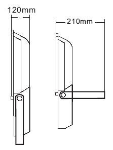 Габариты светодиодного прожектора NSFL 100W LED