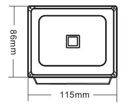 Габариты светодиодного прожектора NSFL 10W LED