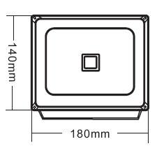 Габариты светодиодного прожектора NSFL 20W LED
