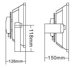 Габариты светодиодного прожектора NSFL 30W LED